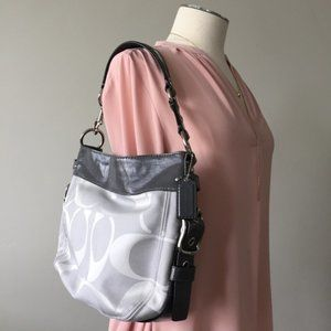 COACH - Silver Gray Purse Hobo Shoulder Bag